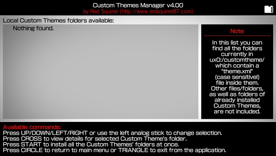 Custom Themes Manager